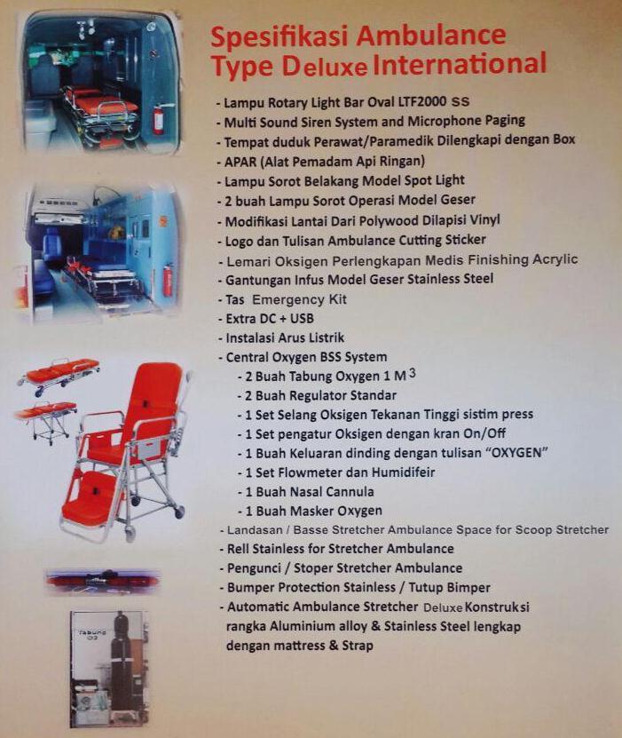 Spesifikasi Ambulance type Deluxe