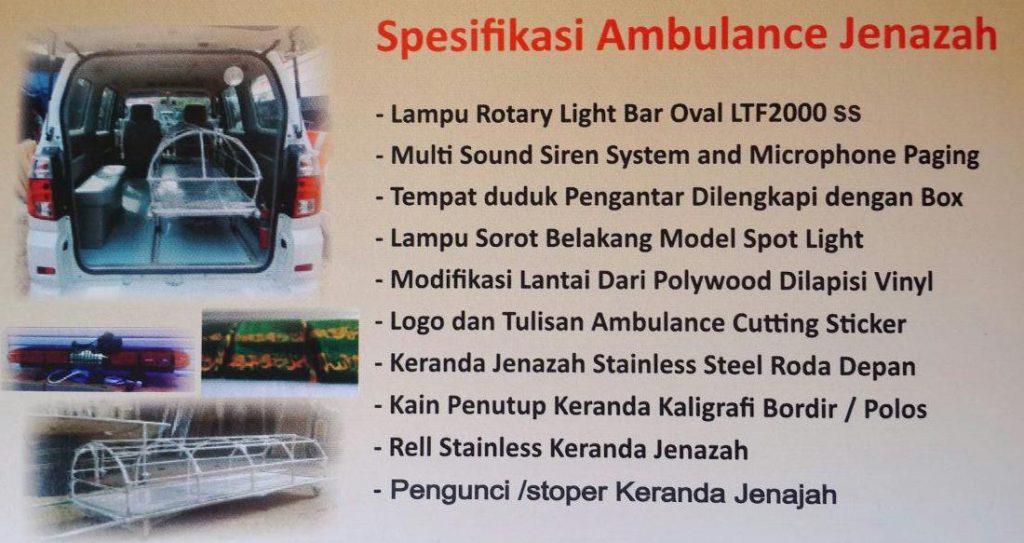 Spesifikasi Mobil Jenazah
